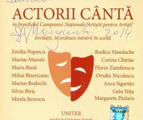 Actorii cântă