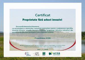 Certificat arbori invazivi