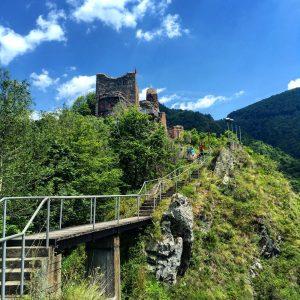 Argeș Cetatea Poenari vară nebună